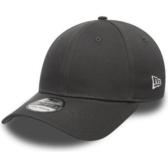 Cappellino visiera curva grigio scuro aderente 39THIRTY Basic Flag di New Era