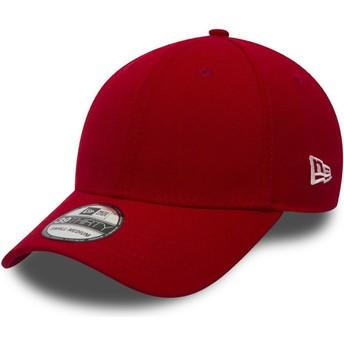 Cappellino visiera curva rosso aderente 39THIRTY Basic Flag di New Era