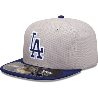 Cappellino visiera piatta blu aderente 59FIFTY Diamond Era di Los Angeles Dodgers MLB di New Era