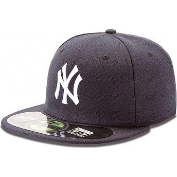Cappellino visiera piatta blu marino aderente 59FIFTY Authentic On-Field di New York Yankees MLB di New Era