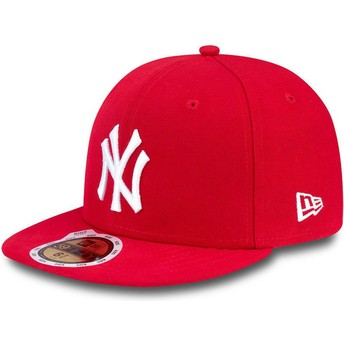 Cappellino visiera piatta rosso aderente per bambino 59FIFTY Essential di New York Yankees MLB di New Era