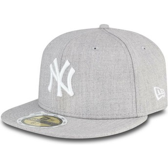 Cappellino visiera piatta grigio aderente per bambino 59FIFTY Essential di New York Yankees MLB di New Era