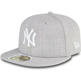 Cappellino visiera piatta grigio aderente per bambino 59FIFTY Essential di New York Yankees MLB di New Era