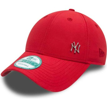 Cappellino visiera curva rosso regolabile 9FORTY Flawless Logo di New York Yankees MLB di New Era