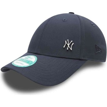 Cappellino visiera curva blu marino regolabile 9FORTY Flawless Logo di New York Yankees MLB di New Era