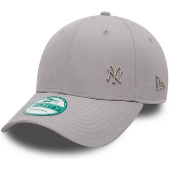 Cappellino visiera curva grigio regolabile 9FORTY Flawless Logo di New York Yankees MLB di New Era
