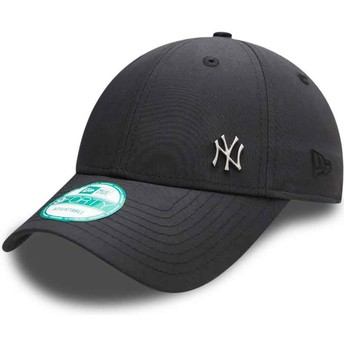 Cappellino visiera curva nero regolabile 9FORTY Flawless Logo di New York Yankees MLB di New Era
