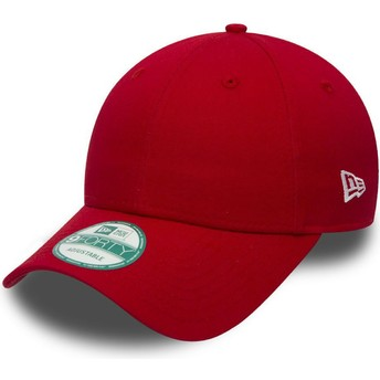 Cappellino visiera curva rosso regolabile 9FORTY Basic Flag di New Era