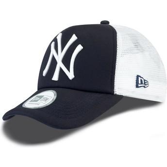 Cappellino trucker blu marino Clean A Frame di New York Yankees MLB di New Era