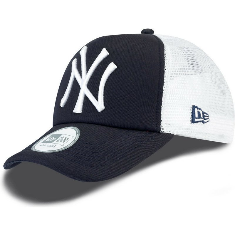 cappellino-trucker-blu-marino-clean-a-frame-di-new-york-yankees-mlb-di-new-era