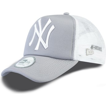 Cappellino trucker grigio Clean A Frame di New York Yankees MLB di New Era