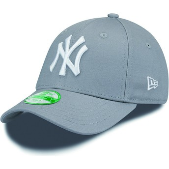 Cappellino visiera curva grigio regolabile per bambino 9FORTY Essential di New York Yankees MLB di New Era