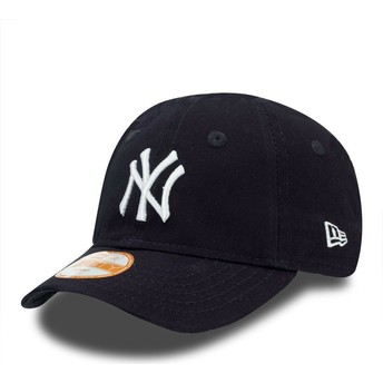 Cappellino visiera curva blu regolabile per bambino 9FORTY Essential di New York Yankees MLB di New Era
